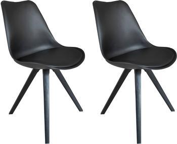 Homexperts Esszimmerstuhl »Kaja 02« (2 Stück), Sitzschale mit Sitzkissen in Kunstleder