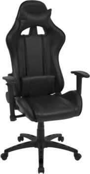 vidaXL Office Chair Reclining Fake Leather Black