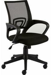 Staples Bürostuhl Felucca, Netzbespannung und Stoff, 64,5 x 64,5 x 101 cm, schwarz, mit Wippmechanik, mit Armlehnen, schwarz, schwarz, schwarz