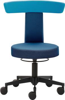 Mayer Sitzmöbel Drehhocker Funktionshocker myDUO, besonders niedrige Sitzhöhe blau Hocker