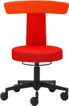 Mayer Sitzmöbel Drehhocker Funktionshocker myDUO, besonders niedrige Sitzhöhe rot Hocker