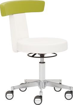 Mayer Sitzmöbel Drehhocker Funktionshocker myDUO, besonders niedrige Sitzhöhe weiß Kunstleder