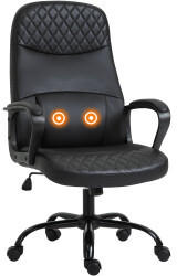 Vinsetto Massage-Bürostuhl 60 x 70 x 106-115 cm schwarz (921-307BK)