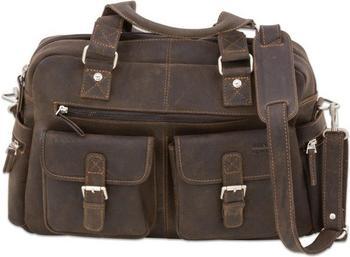 Betzold Businesstasche XL aus Büffelleder dunkelbraun