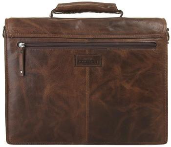 Harold's Saddle Briefcase (240908-01) brown