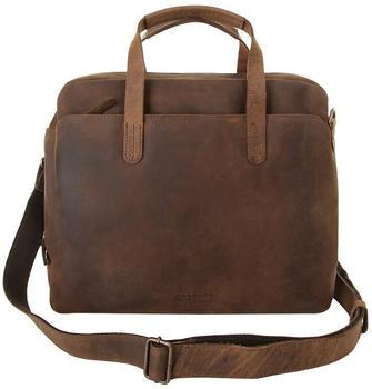 Harold's Antic Briefcase (280203-05) cognac
