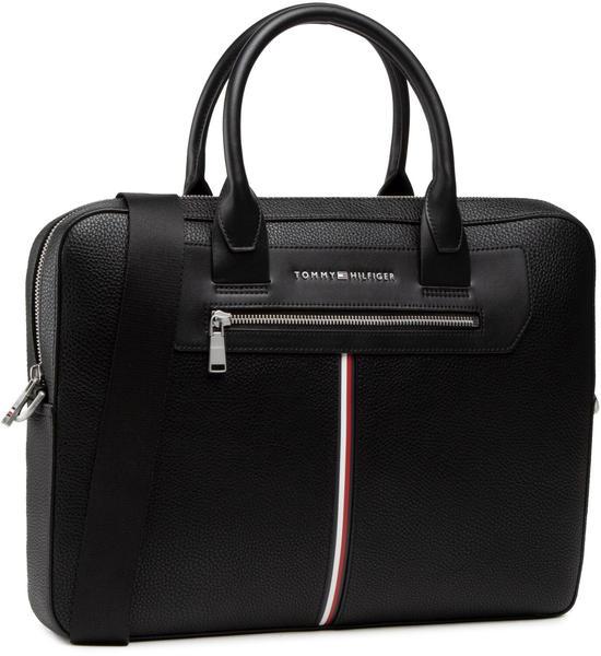Tommy Hilfiger Downtown Slim Pebble Grain Computer Bag black
