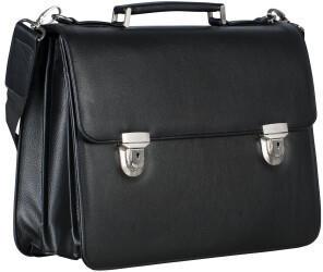 Georg A. Steinmann Lederwarenfabrik GmbH & Co. KG Leonhard Heyden Hannover Briefcase 3 Compartments black