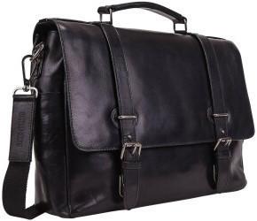 Georg A. Steinmann Lederwarenfabrik GmbH & Co. KG Leonhard Heyden Roma Briefcase 2 Compartments black