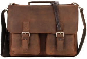Georg A. Steinmann Lederwarenfabrik GmbH & Co. KG Leonhard Heyden Salisbury Briefcase S brown