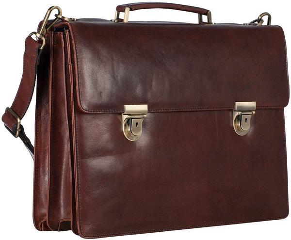 Georg A. Steinmann Lederwarenfabrik GmbH & Co. KG Leonhard Heyden Cambridge Briefcase 3 Compartment redbrown