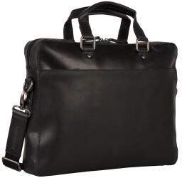 Georg A. Steinmann Lederwarenfabrik GmbH & Co. KG Leonhard Heyden Dakota Zipped Briefcase 1 Compartment black