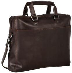 Georg A. Steinmann Lederwarenfabrik GmbH & Co. KG Leonhard Heyden Dakota Zipped Briefcase 1 Compartment brown