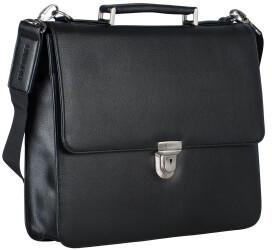 Georg A. Steinmann Lederwarenfabrik GmbH & Co. KG Leonhard Heyden Hannover Briefcase 1 Compartment black
