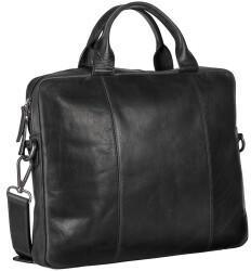 Georg A. Steinmann Lederwarenfabrik GmbH & Co. KG Leonhard Heyden Roma Slim Zipped Briefcase 1 Compartment black