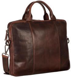 Georg A. Steinmann Lederwarenfabrik GmbH & Co. KG Leonhard Heyden Roma Slim Zipped Briefcase 1 Compartment brown