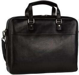 Georg A. Steinmann Lederwarenfabrik GmbH & Co. KG Leonhard Heyden Roma Zipped Briefcase 2 Compartments black