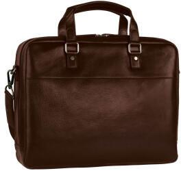 Georg A. Steinmann Lederwarenfabrik GmbH & Co. KG Leonhard Heyden Roma Zipped Briefcase 2 Compartments brown