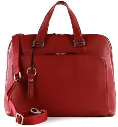 Georg A. Steinmann Lederwarenfabrik GmbH & Co. KG Leonhard Heyden Montpellier Zipped Briefcase 2 Compartments Red