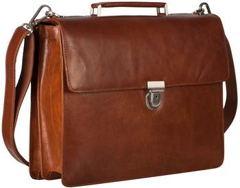 Georg A. Steinmann Lederwarenfabrik GmbH & Co. KG Leonhard Heyden Cambridge Briefcase 2 Compartments cognac
