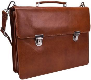 Georg A. Steinmann Lederwarenfabrik GmbH & Co. KG Leonhard Heyden Cambridge Briefcase 3 Compartment cognac