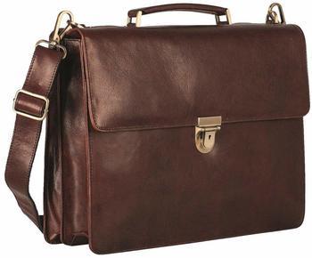 Georg A. Steinmann Lederwarenfabrik GmbH & Co. KG Leonhard Heyden Cambridge Briefcase 2 Compartments redbrown