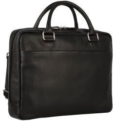 Georg A. Steinmann Lederwarenfabrik GmbH & Co. KG Leonhard Heyden Berlin Zipped Briefcase 1 Compartment black