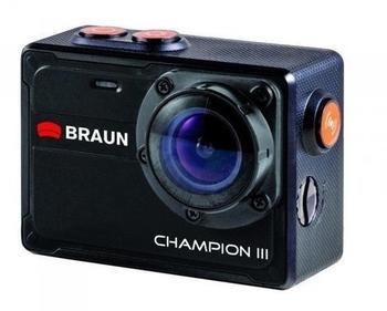 Braun Germany Action Cam Champion III 57522 Wasserfest, 4K, WLAN