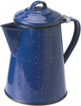 GSI Emaille Kaffeekanne blau