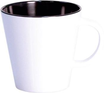 Gimex Tasse Linea (weiß/schwarz)