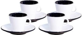 Gimex Espresso-Set Linea (weiß/schwarz)
