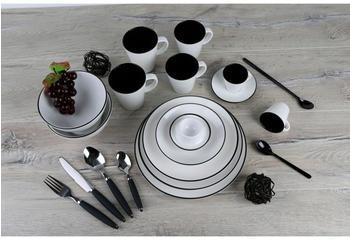 Gimex Dinnerware Set 16 Linea (black)