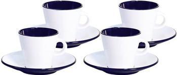 Gimex Espresso-Set Linea (weiß/blau)