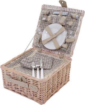Mendler Picknickkorb-Set für 4 Personen mit Kühlfach