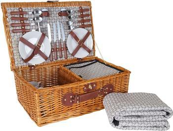 Mendler Picknickkorb-Set 4 Personen (HWC-B25)