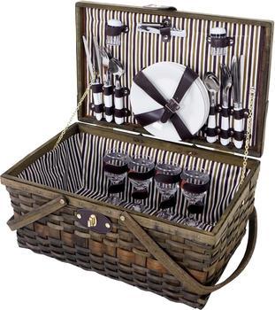 Mendler Picknickkorb-Set für 4 Personen (51417)