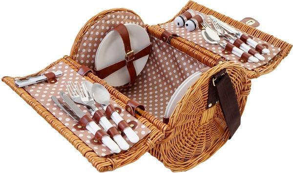 Mendler Picknickkorb-Set für 4 Personen (51418)