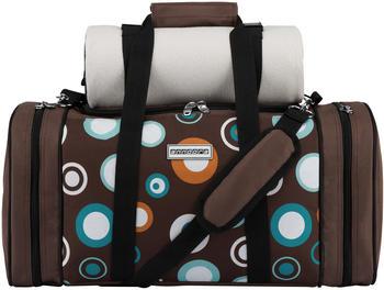 anndora Pichnicktasche + Kühltasche 4 Personen inkl. Decke (braun/gepunktet)