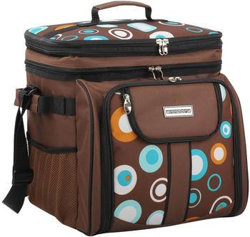 anndora-picknicktasche-umhaengetasche-29-teiliges-zubehoer-braun-kreise