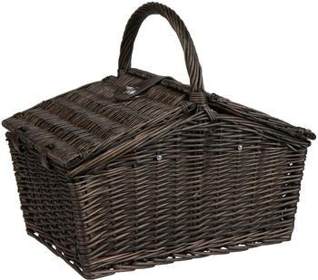 anndora Picknickkorb Weide + Zubehör 23-tlg. für 4 Personen (braun)