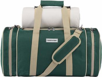 anndora Pichnicktasche + Kühltasche 4 Personen inkl. Decke (dunkelgrün/beige)