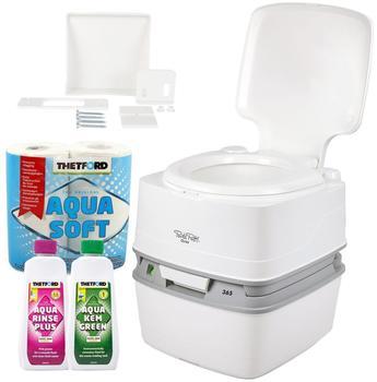 Thetford Porta Potti Qube 365 Toilette + Befestigung + Toilettenpapier + Chemikalien