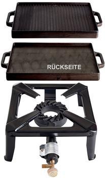 Paella World Hockerkocher-Set (Grillplatte 32x32, klein, ohne Zündsicherung)