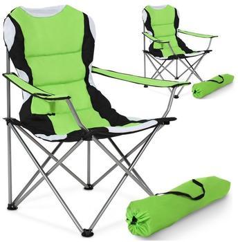 TecTake gepolsterte Campingstühle (2er Set) grün