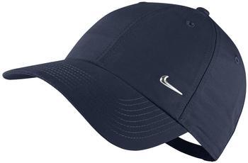 Nike Metal Swoosh Logo Cap obsidian/metallic silver