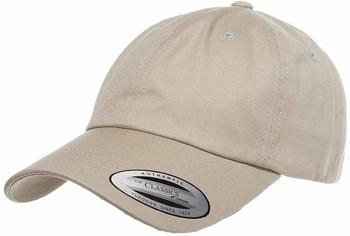 Flexfit 6245CM Low Profile Cotton Twill Dad Hat khaki