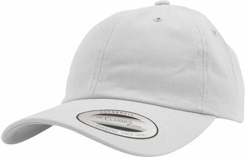 Flexfit 6245CM Low Profile Cotton Twill Dad Hat white