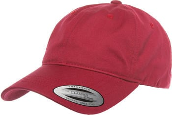 Flexfit 6245CM Low Profile Cotton Twill Dad Hat cranberry