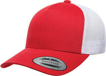 Flexfit 6506T 5-Panel Retro Yupoong Trucker 2-Tone red/white