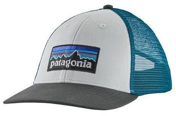 Patagonia P-6 LoPro Trucker Hat white forge grey